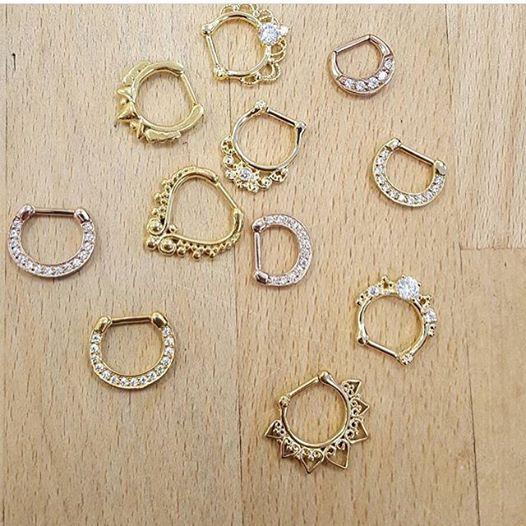 Juvel septum clicker jewel bcr piercing Jewwllery piercing
