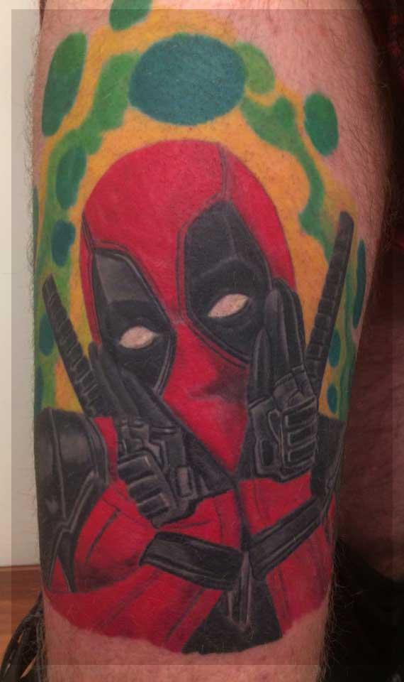 deadpool tattoo tatovering