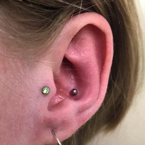 tragus conch piercing
