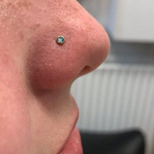 næsefløj piercing jewel nose stud