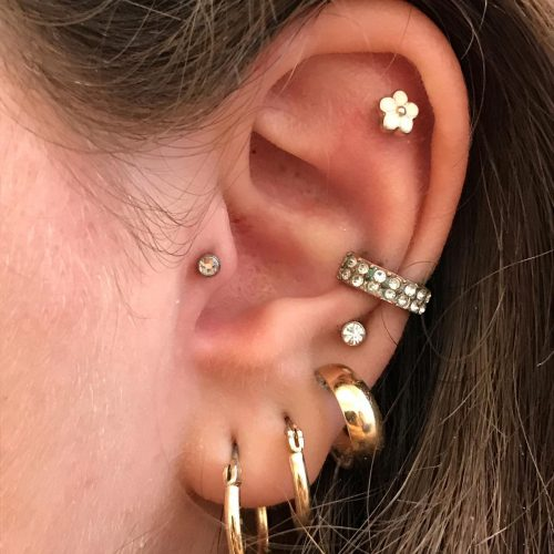 helix tragus conch earlope piercing