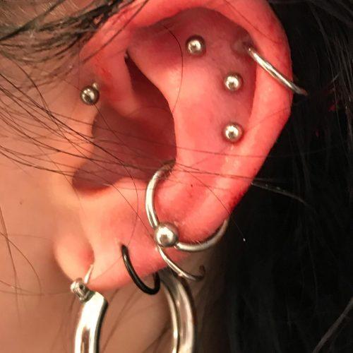 flat helix conch foward piercing