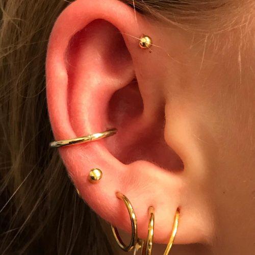 forward conch helix goldline jewelery smykker piercing