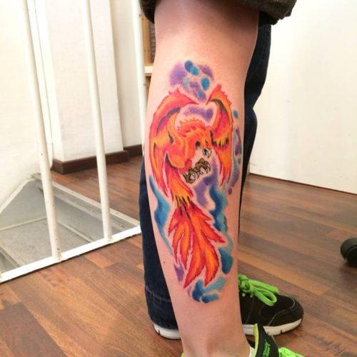Phønix fugl tatovering phoenix bird tattoo
