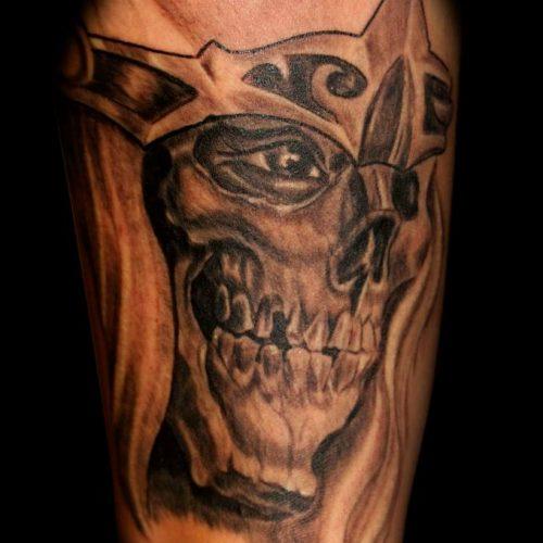 Kranie tatovering skull tattoo