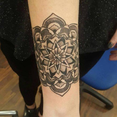 mandala tattoo tatovering
