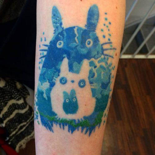 totoro tattoo tatovering colour farve