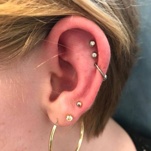 dobbelt helix piercing cartilage ørekant ring