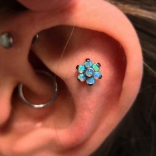flat piercing daith