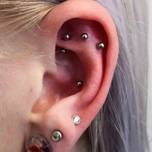 rool flat helix piercing