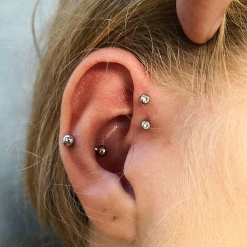 snook double dobbelt forward helix piercing
