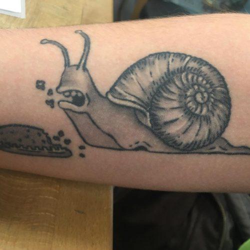 snegl tatovering tattoo