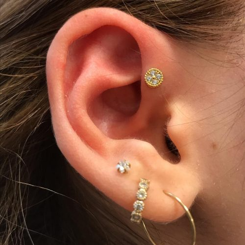 forward front helix piercing