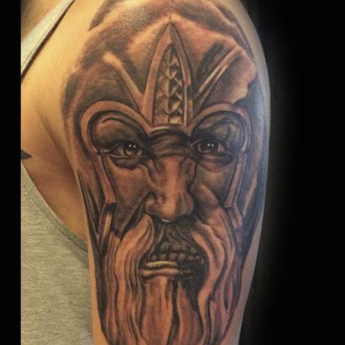 Viking tattoo tatovering skygge