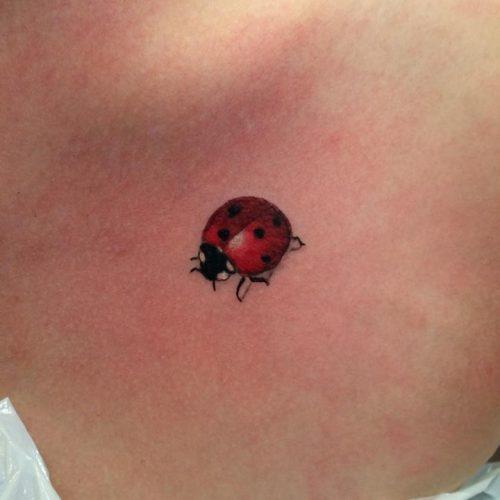 mariehøne tattoo tatovering
