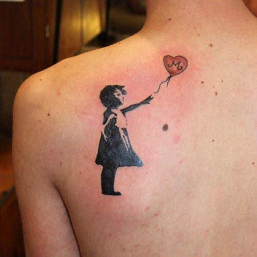 banksy tribute tatovering tattoo