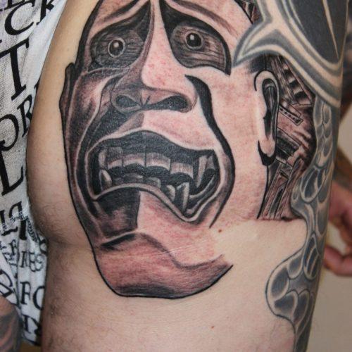 Japansk japanese hannya mask tattoo tatovering