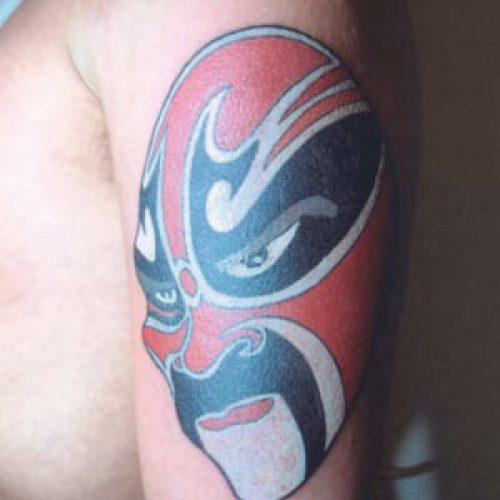 Japanese mask tattoo japansk maske tatovering