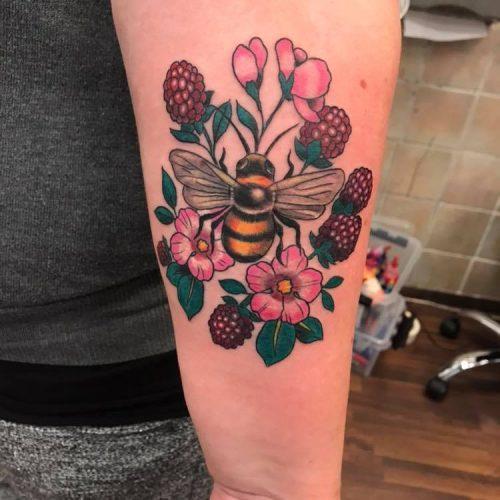 Bi og blomster