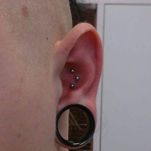 Store huller strech piercing unisex bodyart øre ear