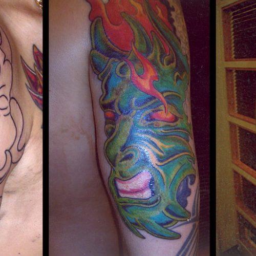 coverup tattoo dæk tatovering