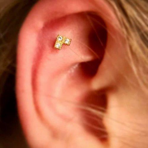 flat piercing exclusive jewel juvel labret unisex female male