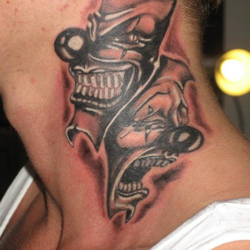 Cry now laugh later tattoo chicano tatovering