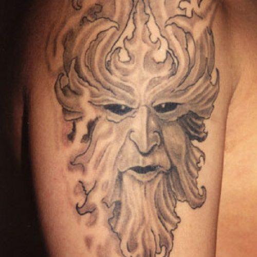 Leaf man tattoo oldschool 90`s