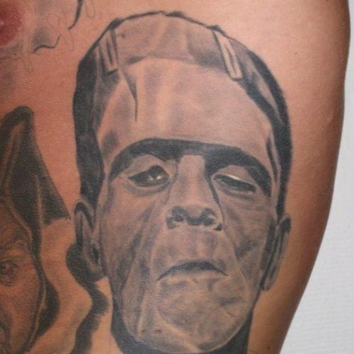 Frankensteins monster tattoo tatovering
