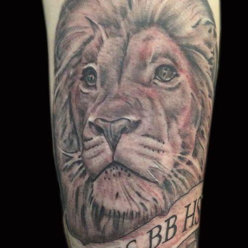løve lion tattoo tatovering