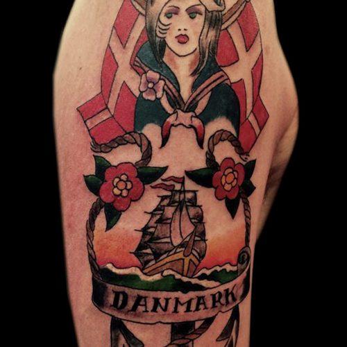 oldschool tattoo denmark danish dansk tatovering