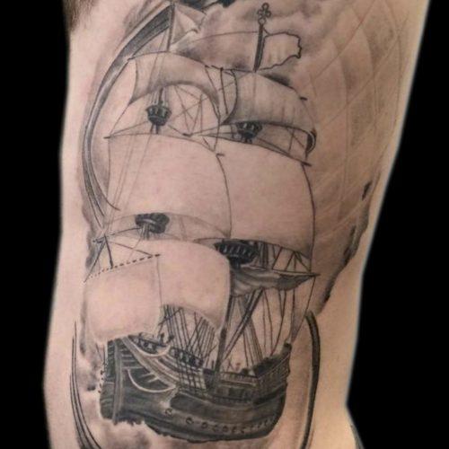 Flyvende hollænder tatovering flying dutchman tattoo