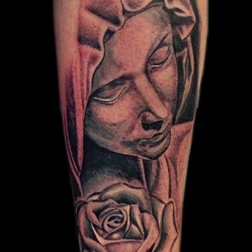 Virgen Mary holy mother tattoo tatovering chicano cholo