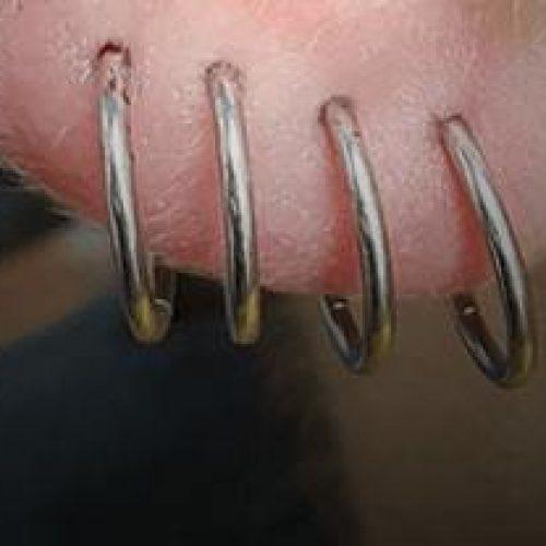 øreflip piercinger earlope piercings ear piercing