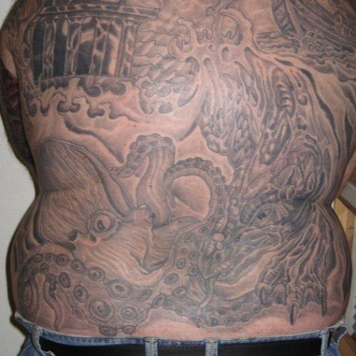 Ryg tatovering full back tattoo