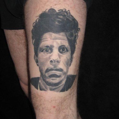 Tom Waits tattoo tatovering portræt portrait