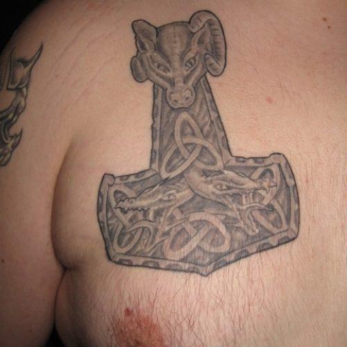 hammer of thor tattoo thors hammer tatovering