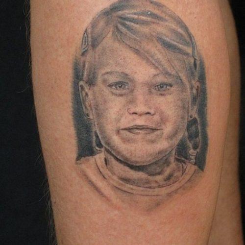 portræt tatovering portrait tattoo