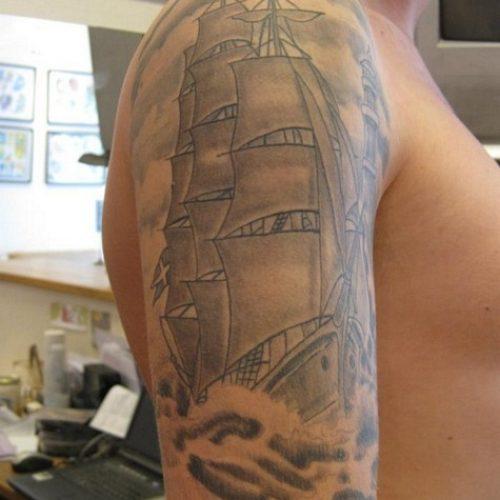 skib tatovering ship tattoo